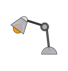 desk lamp bulb light electric equipment vector image vector image