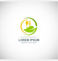 food organic vegetarian logo vector image