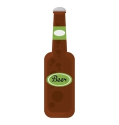 fresh beer bottle isolated icon vector image vector image
