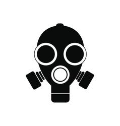 Gas mask black simple icon vector