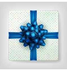 Gifts box color blue on gray background eps 10 vector