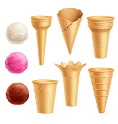 Ice cream icon set vector