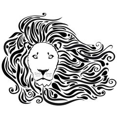 Lion black vector