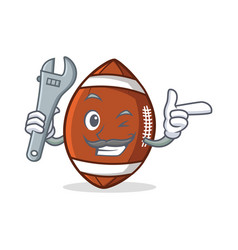 Mechanic american football character cartoon vector
