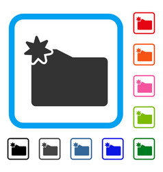 New folder framed icon vector