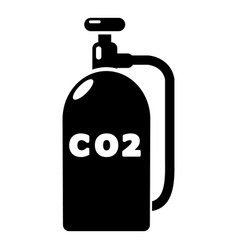 Paintball carbon dioxide icon simple style vector