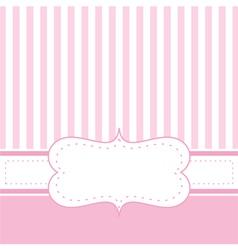 Pink card invitation or restaurant menu vector image