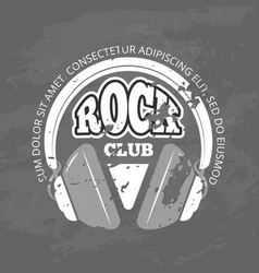 retro rock music club shop logo vector image
