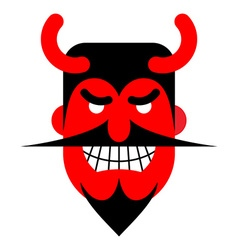 Satan laughter Devil with terrible smile Horrible vector image