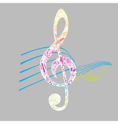 Set of musical notes vector