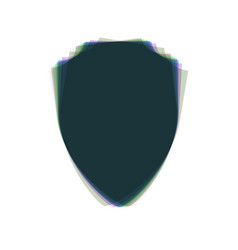 Shield sign colorful icon vector