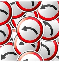 Sticker traffic symbols vector image vector image