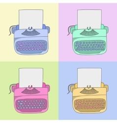 stylish typewriter vector image