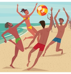 Summer activity at beach vector image