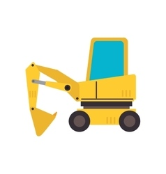Under construction backhoe icon vector