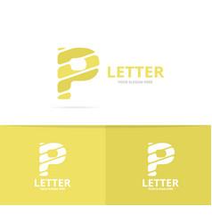 unique letter p logo design template vector image