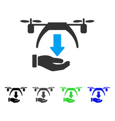 Unload drone flat icon vector