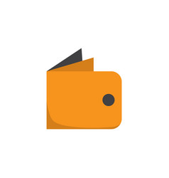 wallet flat icon symbol premium quality isolated vector image