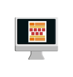 Computer technology website icon graphic vector