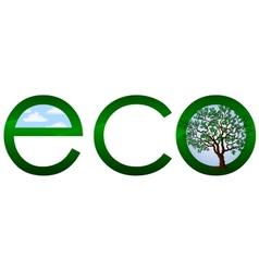 Ecological logo or emblem vector image