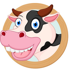 Cow cartoon or mascot vector