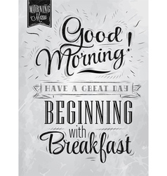 Poster Good Morning coal vector image