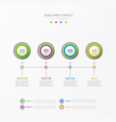 Abstract element for business strategy vector