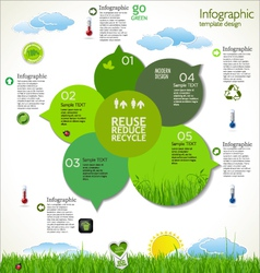 Modern ecology template design vector image