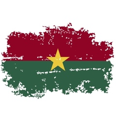 Burkina faso grunge flag vector