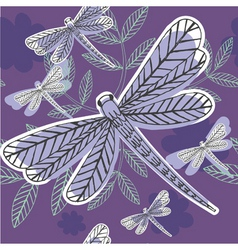 Dragonfly pattern vector