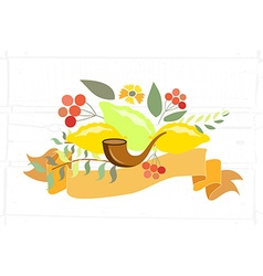 Collection of labels and elements for sukkot vector