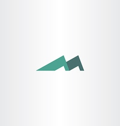 Logo mountain letter m icon vector