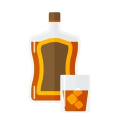Whiskey bottle isolated vector