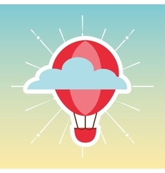 Balloon air travel icon vector
