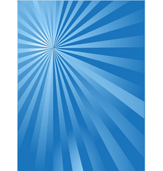blue sun ray background vector image