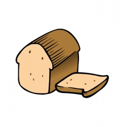 bread sliced vector image