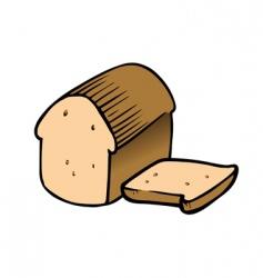 bread sliced vector image vector image