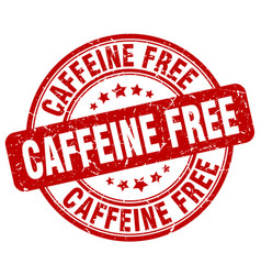 Caffeine free red grunge stamp vector
