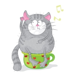 Cat on a chamber-pot characters Cartoon vector image vector image