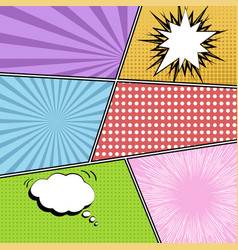 colorful comics template vector image