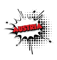 Comic text Austria sound effects pop art vector image