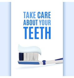 Dental background with realistic toothbrush vector