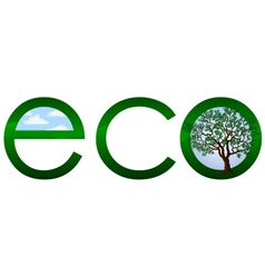 Ecological logo or emblem vector image vector image