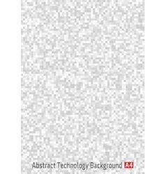 Gray pixel vertical background a4 format vector image