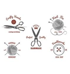 Handmade logos vector image vector image