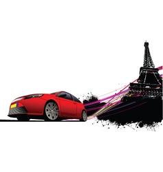 luxury car vector image vector image