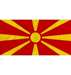 Macedonia paper flag vector image
