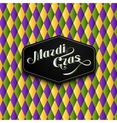 Mardi gras or shrove tuesday label vector