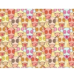 Pattern from cows muzzles vector