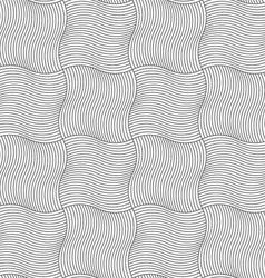 Slim gray wavy sriped squares vector image vector image
